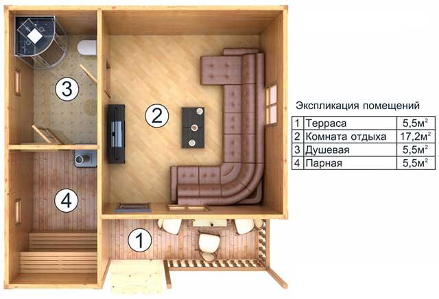 Как построить баню своими руками 6х4 57