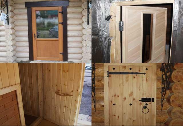 Как сделать банные двери своими руками 49
