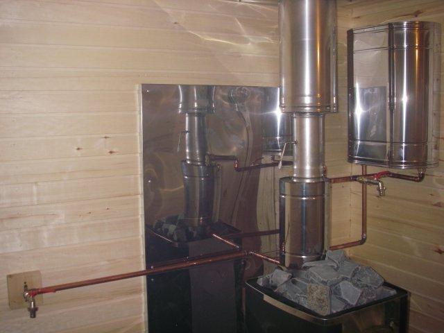 Печь для бани с баком для воды: устройство и особенности конструкции    Печь для бани с выносным баком