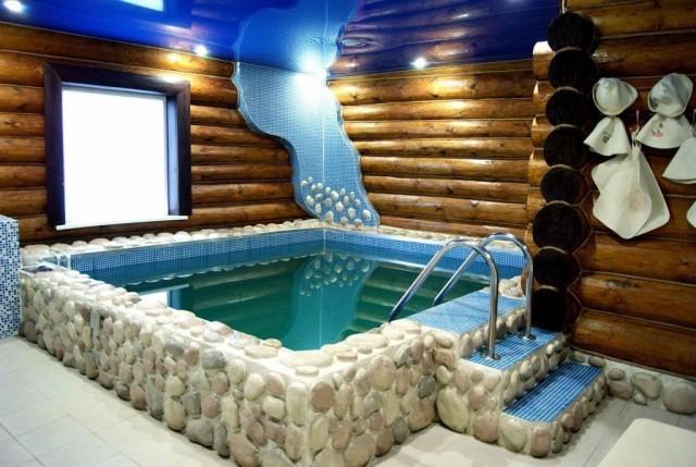 Бассейн пристроенный к бане
