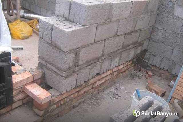 Стройка бани