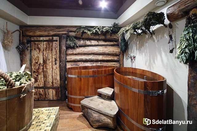 Оптимальный размер бани с комнатой отдыха