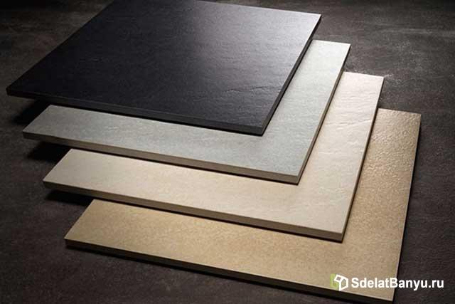 Плитка для бани на пол: выбор, укладка и преимущества керамогранита