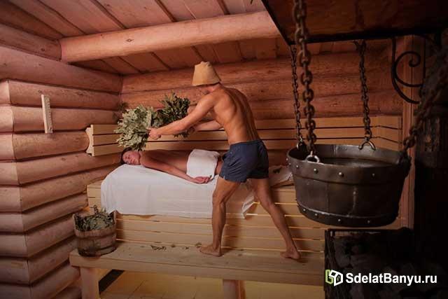 Оздоровительные процедуры в сауне