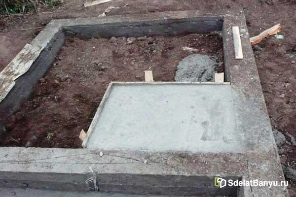 На фото фундамент для печки
