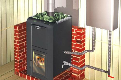Фото: теплообменник для банной печи