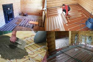 Как сделать теплый пол в бане: устройство, водяной, электрический и инфракрасный варианты