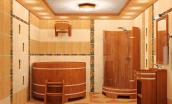 Внутренняя отделка моечного отделения в бане: особенности, достоинства, отделочные материалы
