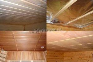 Как сделать потолок в бане: устройство, материалы, типы конструкций, технология монтажа