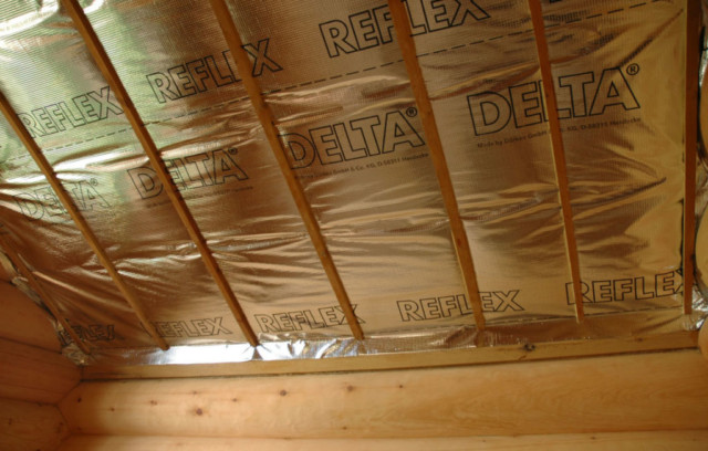 Пароизоляция потолка бани используем современные способы