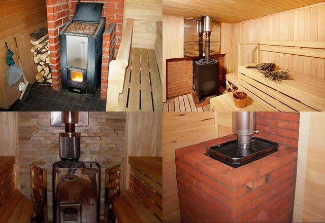 Устройство печи для бани: дровяной, кирпичной, из металла, газовой