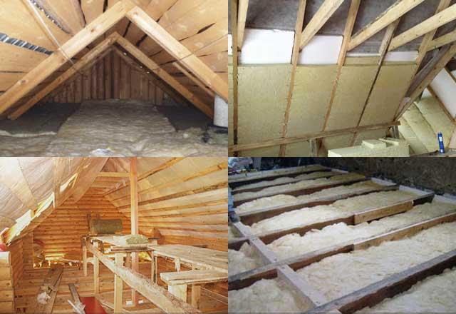 Каким материалом правильно утеплить крышу в бане
