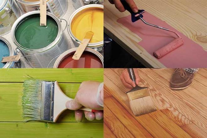 Современные краски для древесины