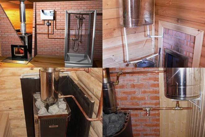 Нагрев воды в бане через теплообменник